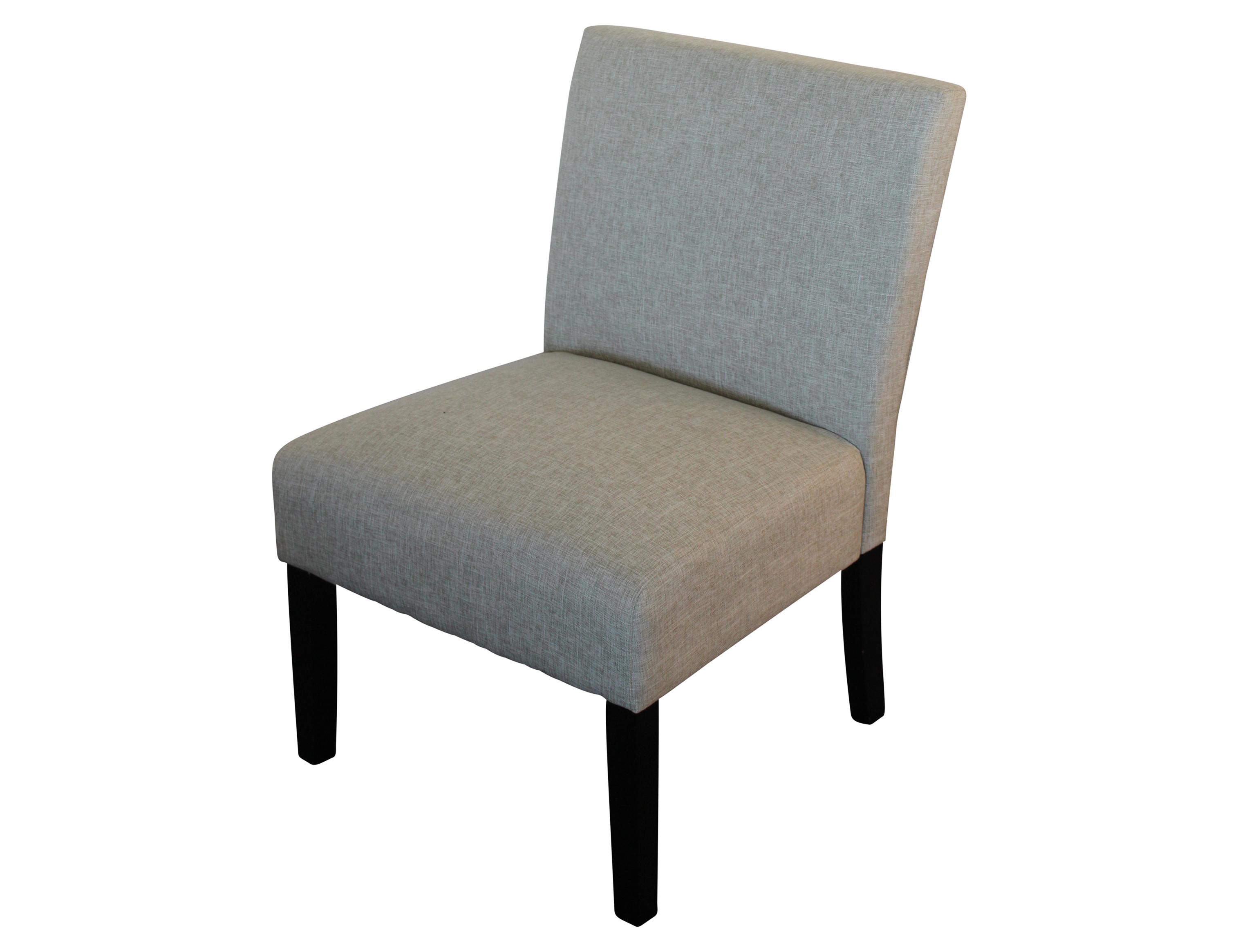 Albany Chair Dark Brown leg Light Brown Beige fabric