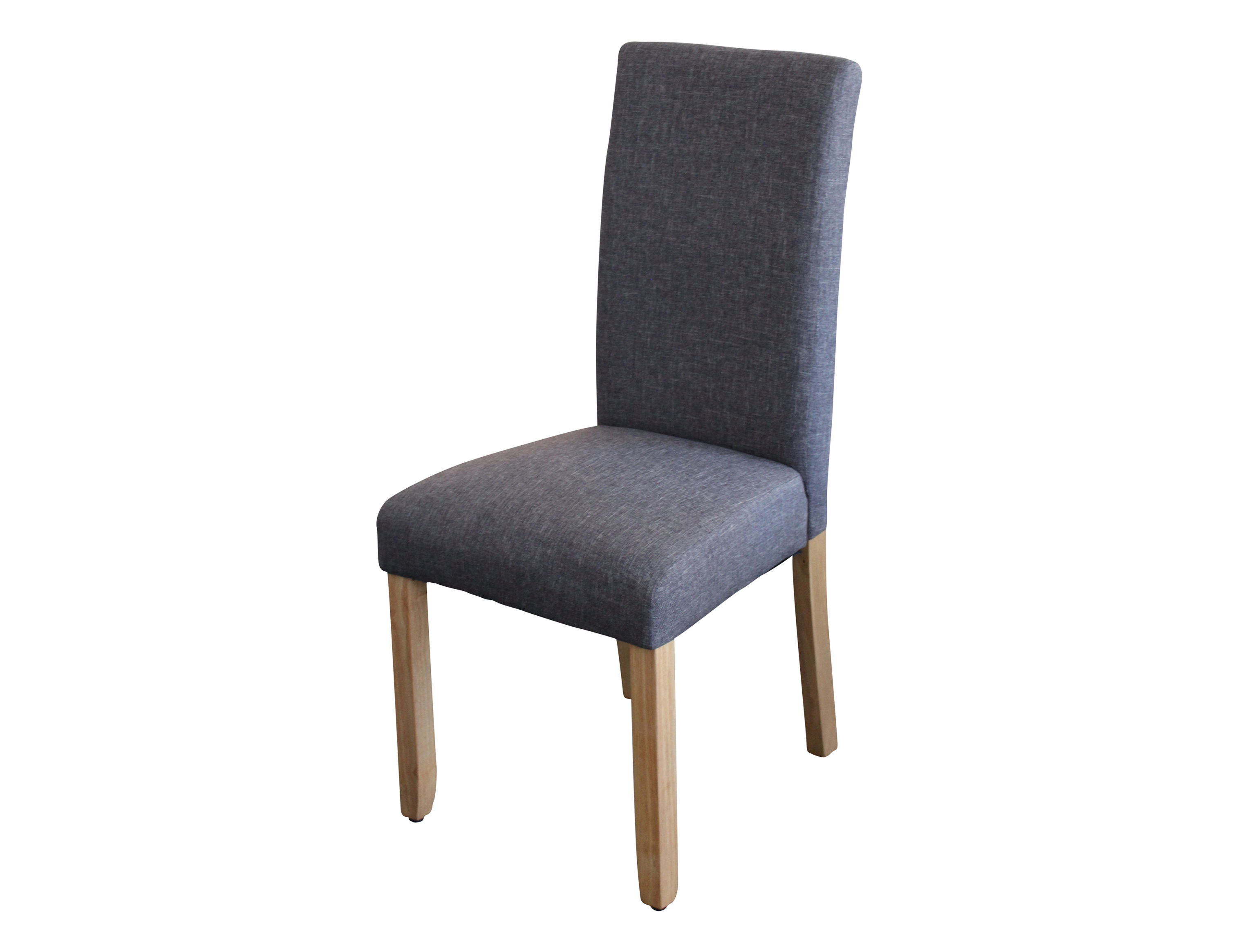 ashton dining chair upholstered in dark grey fabric