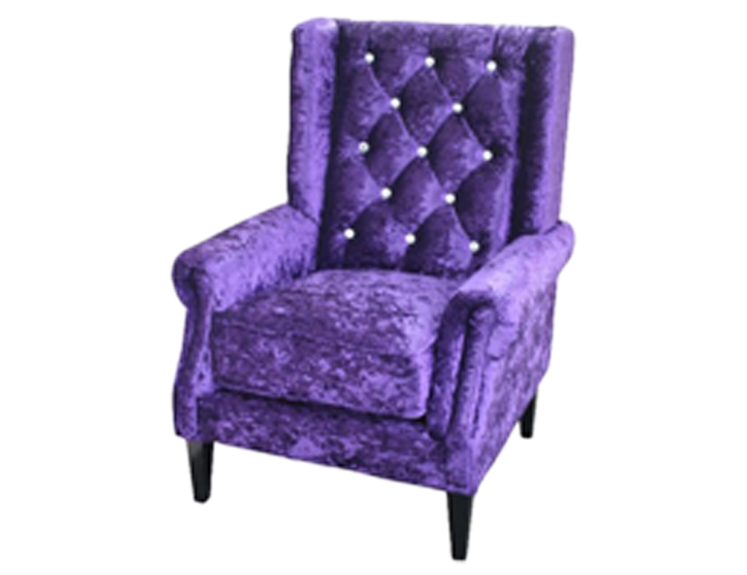 Bling Chair Upholstered In Purple Berton Furniture