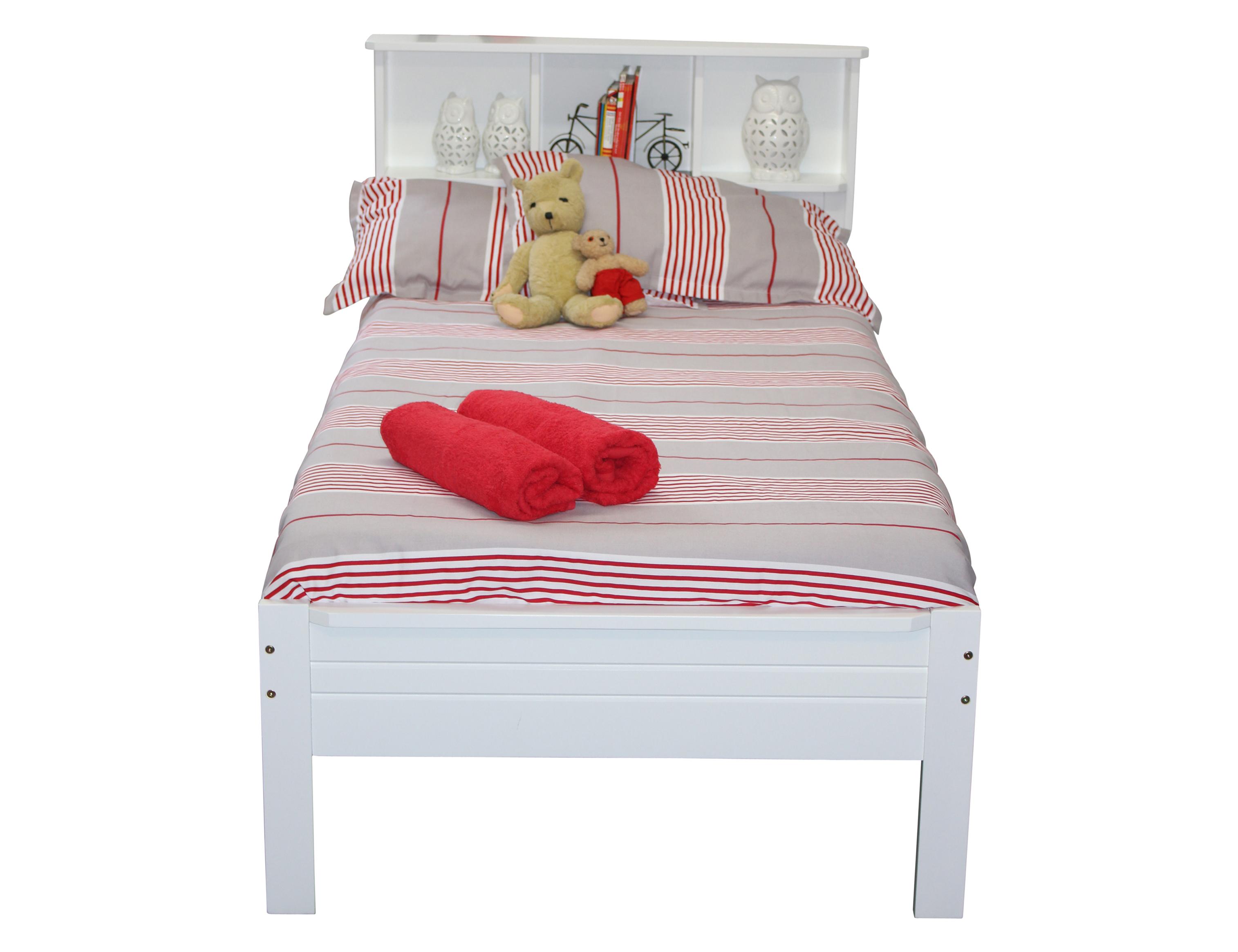 Single Bookcase Bed White Berton Furniture