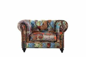 Chesterfield by Berton Furniture Patchwork arm chair