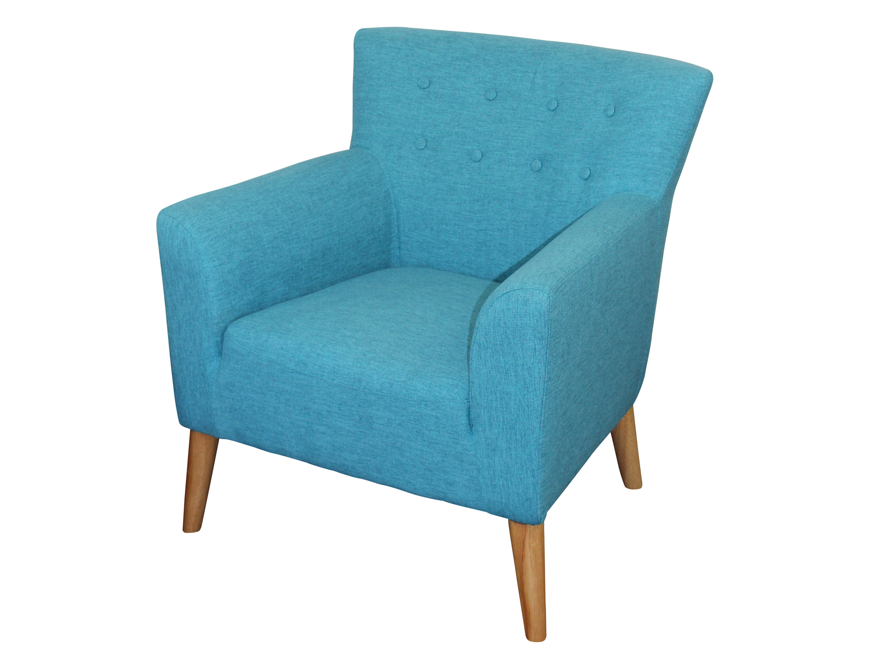 Darcy Chair 81 X 79 X 75 Fiesta Teal Fabric Berton Furniture