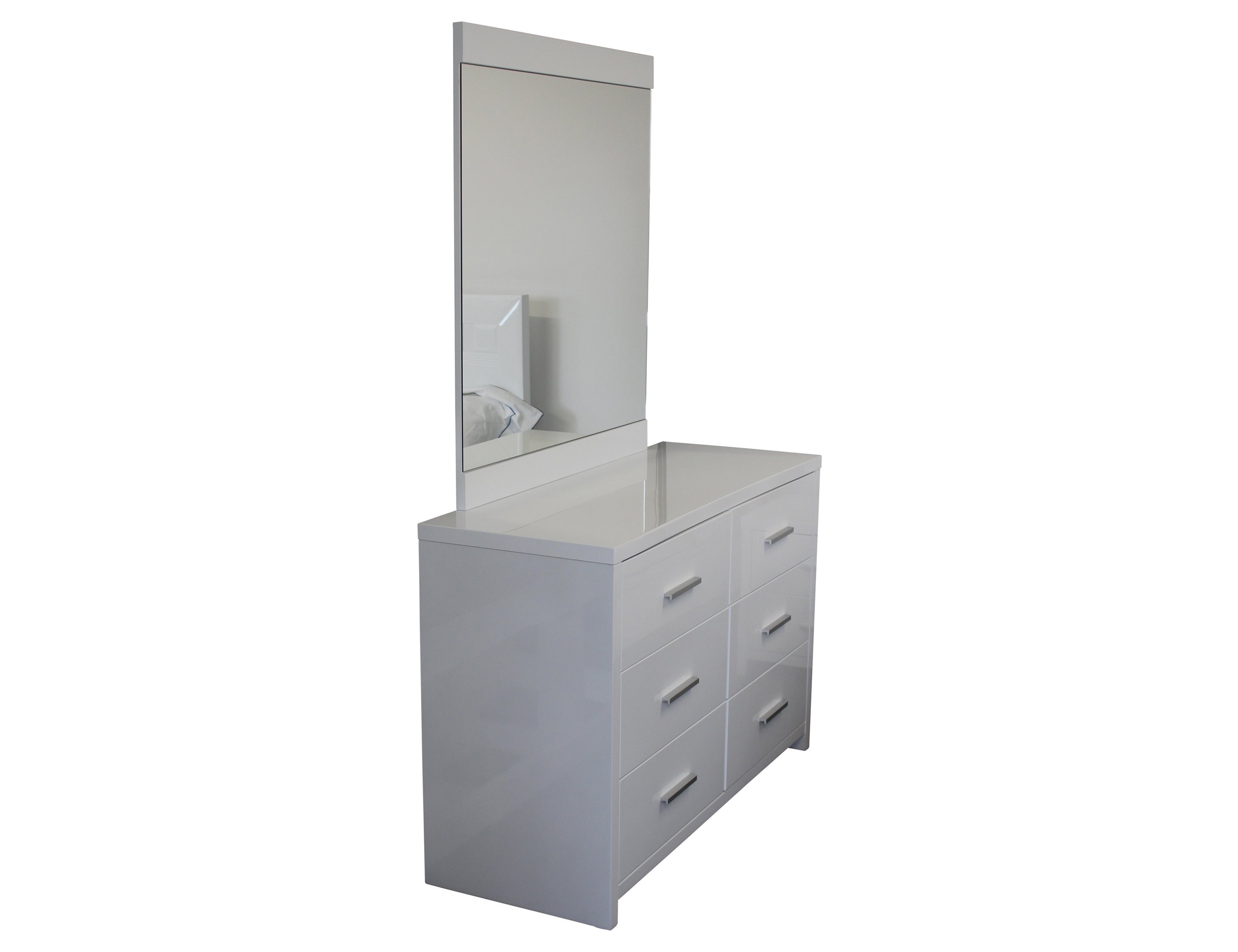White Gloss Dressing Table And Chair: Manly 6 Drawer Dressing Table And Mirror White Gloss