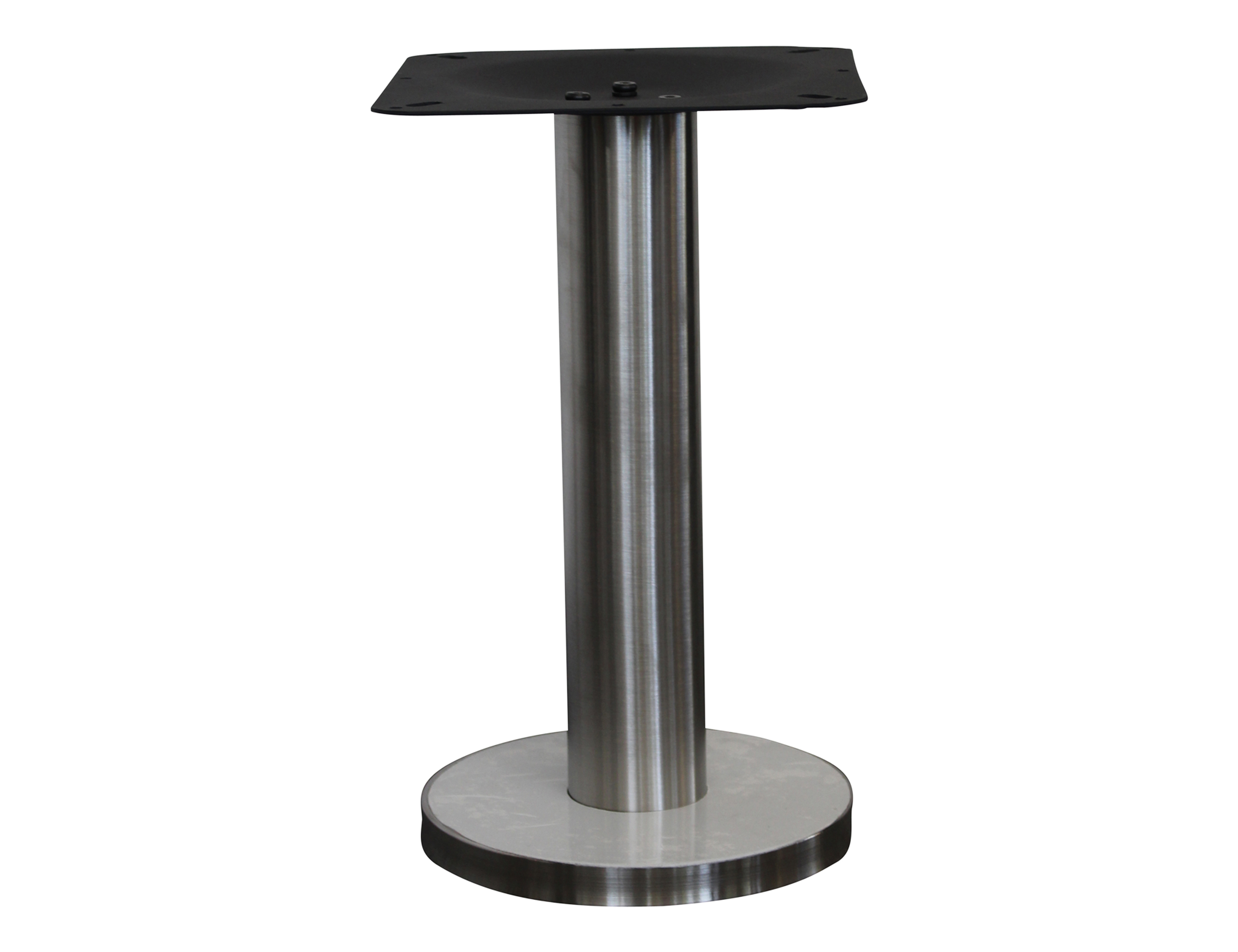 New york fixed seat base coffee table base 304 brushed for Table new york