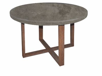 Saltbush round Dining Table concrete top