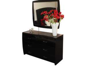 Waverley dressing table blk and mirror