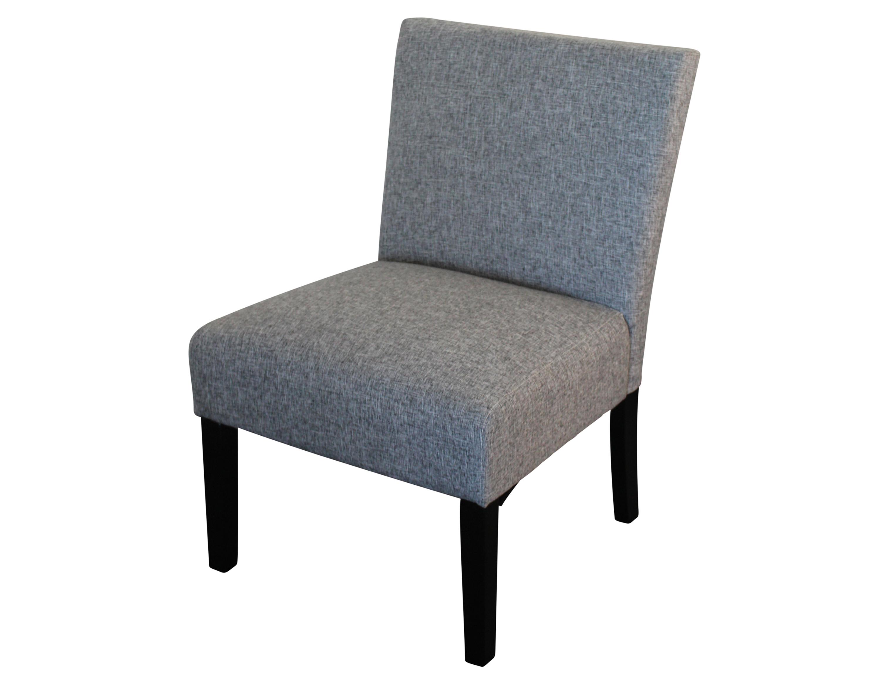 Albany Chair Dark Brown Leg Light Charcoal Fabric