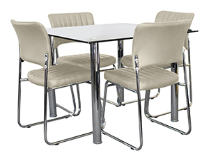 Ascot 5 Pce Dining (1) Robson Chair Camel