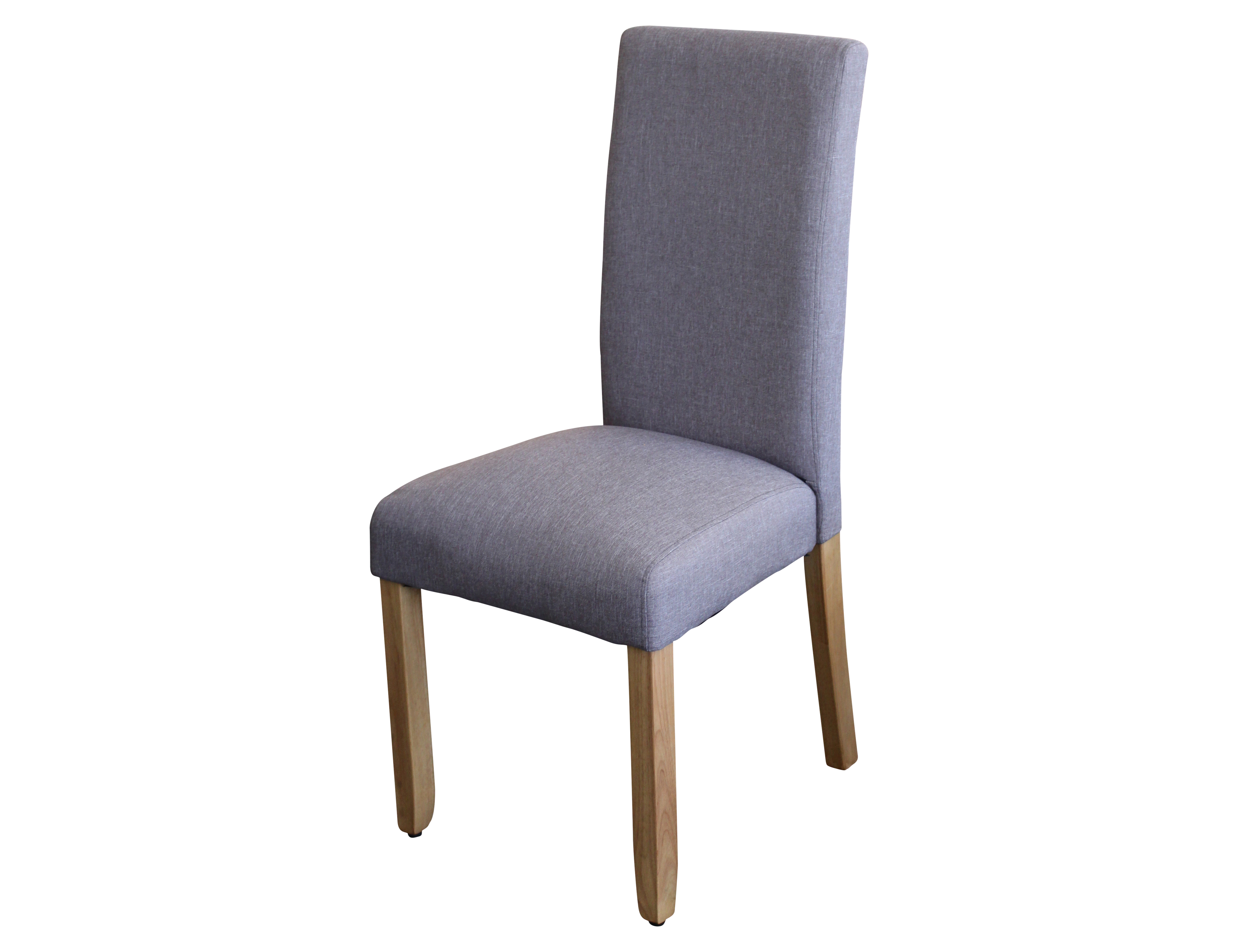 Ashton Dining Chair Upholstered In Light Grey Fabric