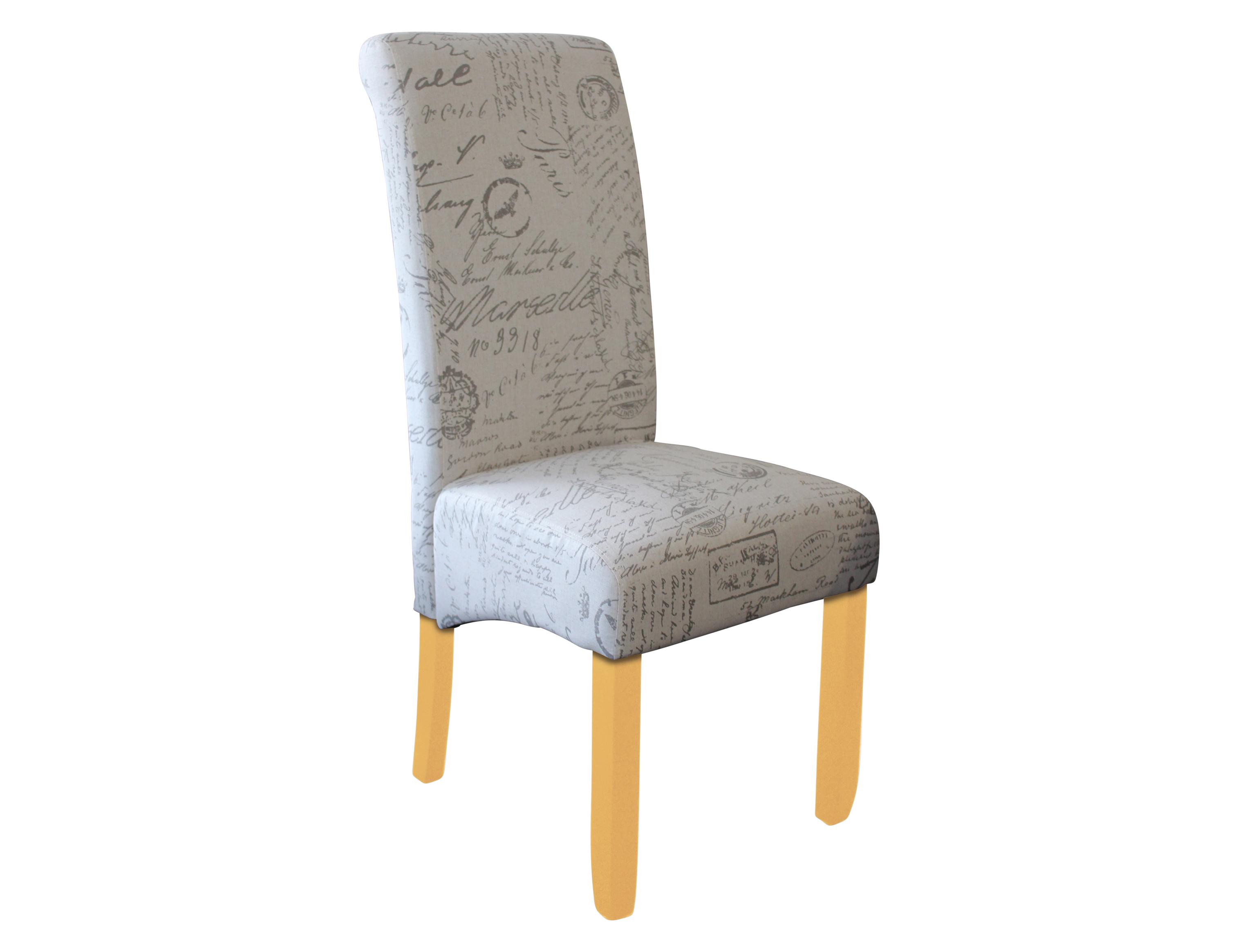 Avalon Dining Chair Blonde Script Fabric L0007 3 Berton