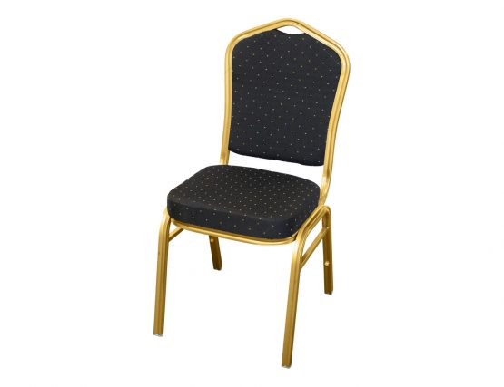 Banquet Chair 2016 BlackGold fabric