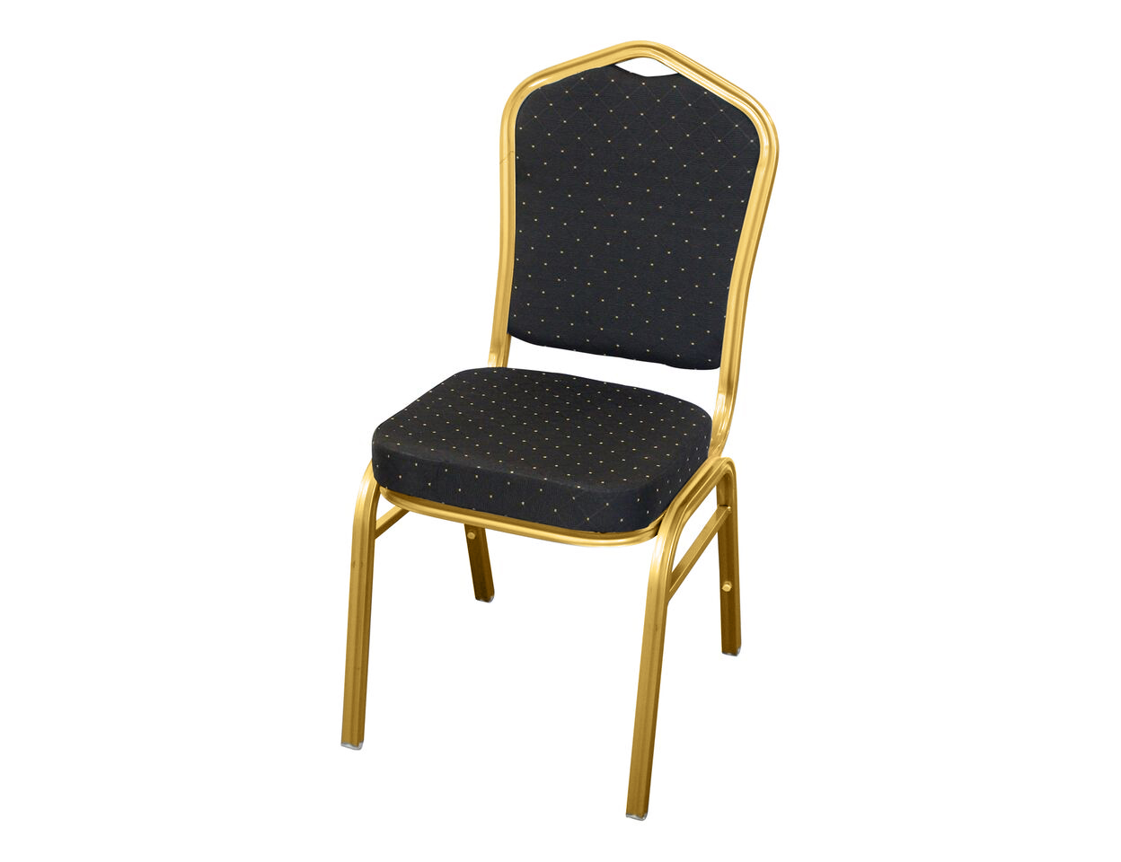 Banquet Chair Gold Black Fabric Berton Furniture
