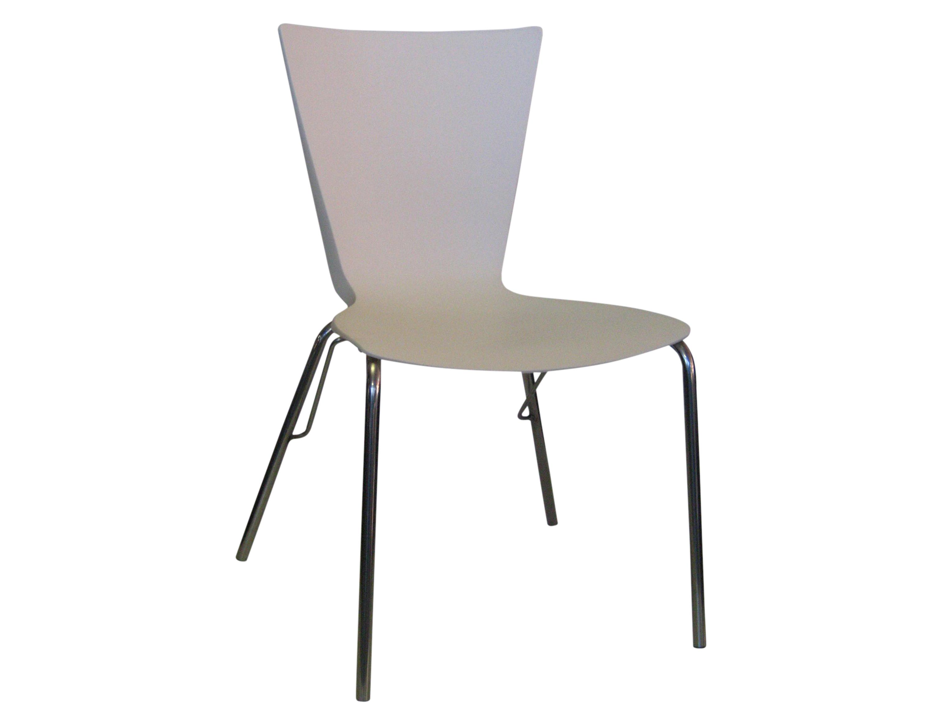 Bourke Stainless Steel Polypropylene Shell Chair Off