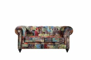 Chesterfield by Berton Furniture Patchwork 2 seater