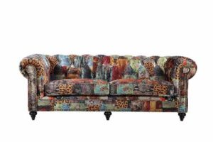 Chesterfield by Berton Furniture Patchwork 3 seater
