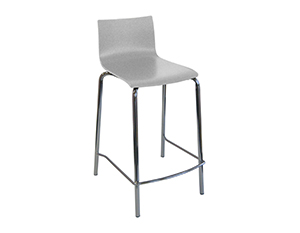 Contour stool white