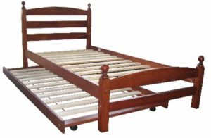cosmos bed with trundle oak