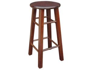 mission stool -walnut