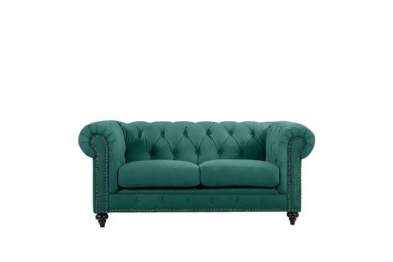 Chesterfield by Berton Furniture 2 seater Emerald Velvet