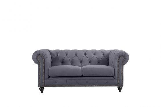 Chesterfield by Berton Furniture 2 seater Slate Velvet