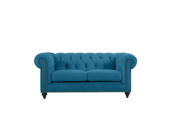 Chesterfield by Berton Furniture 2 seater Turquoise Velvet