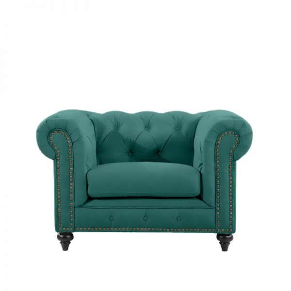 Chesterfield by Berton Furniture Arm Chair Emerald Velvet