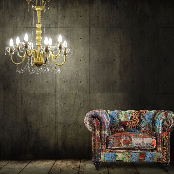 Chesterfield lounge digital patchwork